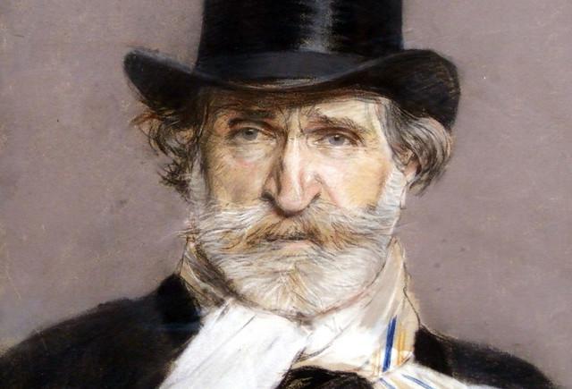 Giuseppe Verdi, portrait by Giuseppe Bordini
