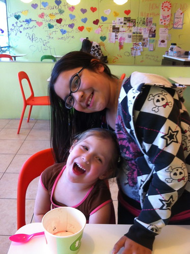 Cheyenne & Angelica at a Frozen Yogurt Place