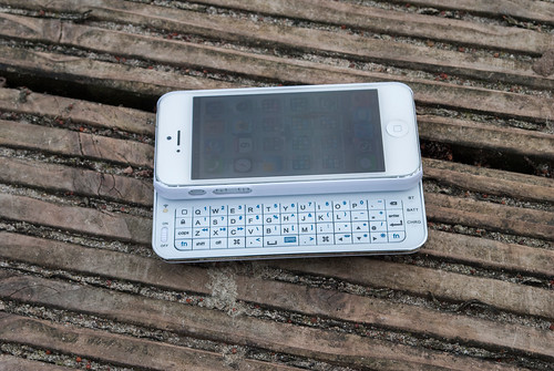 Mobiletto iPhone 5 Bluetooth-Keyboard&Case - weiß -