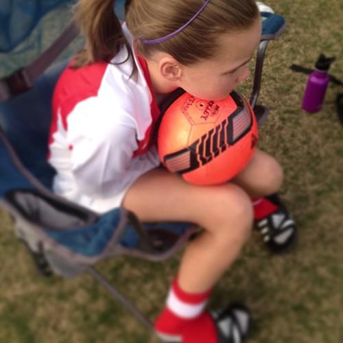 My goalie awaits game 2