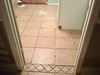 New tile in laundry room