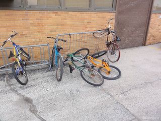 High school bike parking