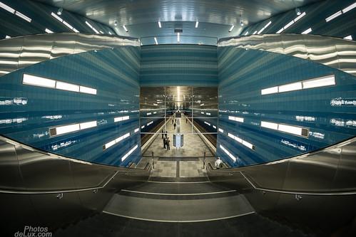 U4 Station Überseequartier -  8mm Samyang Fisheye - Fuji X-Pro 1
