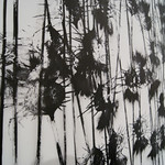 Thistle detail II - Ink on Vellum - Heidi Jung: Black and White, Jeffco Alumni Exhibition