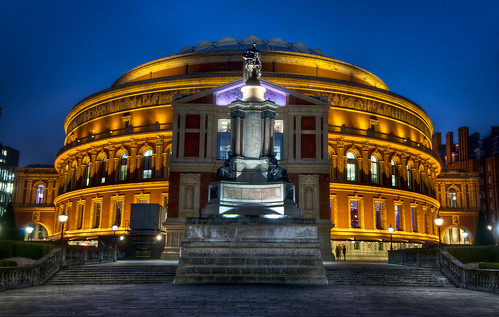 city uk travel light england urban music colour building london art statue architecture night digital photoshop landscape geotagged photography lights hall photo high globe nikon europe long exposure raw dynamic unitedkingdom britain united albert capital wide royal illumination kingdom landmark symmetry illuminated east le hour processing nikkor dslr venue range dri hdr blending alberthall d300 tonemapped photomatrix touristattration hdratnight blendingdynamic increasedri