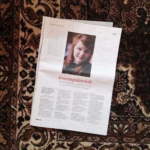 o hai! i'm in the paper today. #dagogtid