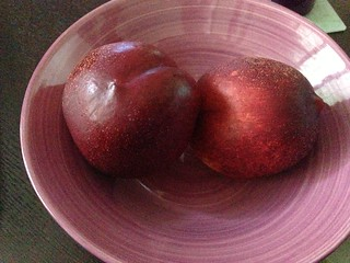 Post-run snack (nectarines)