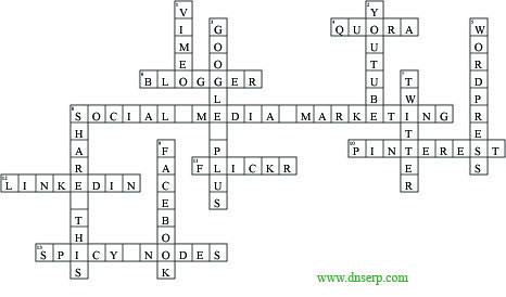 Solution Crossword puzzle # 01 focusing on the Digital Platforms