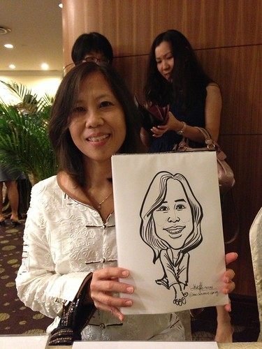 caricature live sketching for South West ComCare Local Network Anniversary Dinner cum ComCare Awards 2013 - e