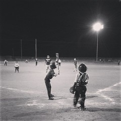 My boy at bat. They all did so good tonight. So proud.