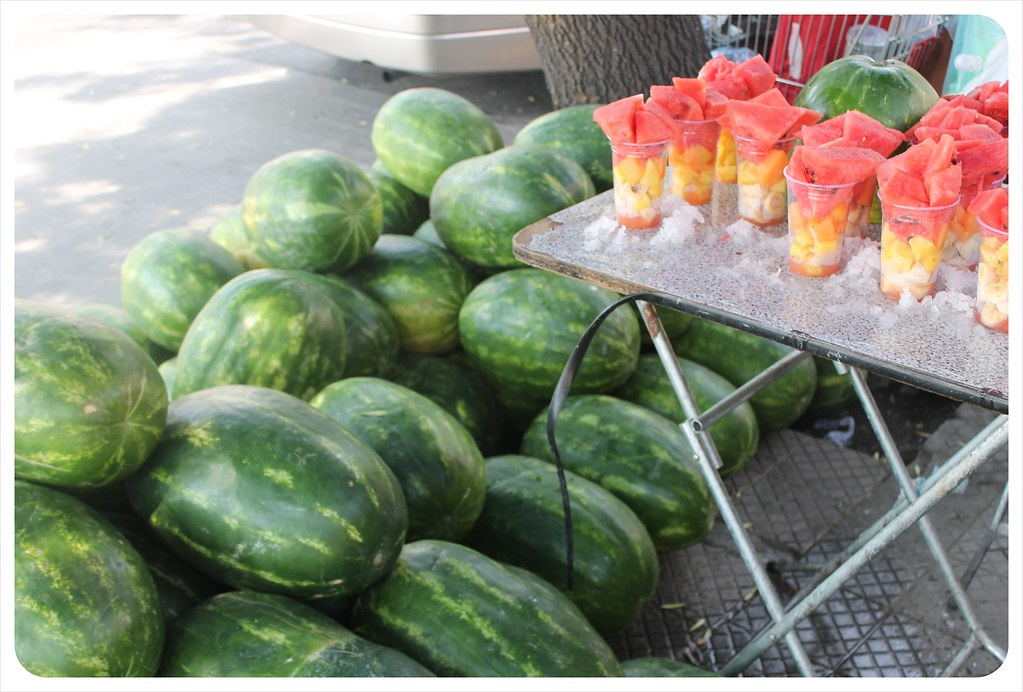 santiago de chile fresh water melon