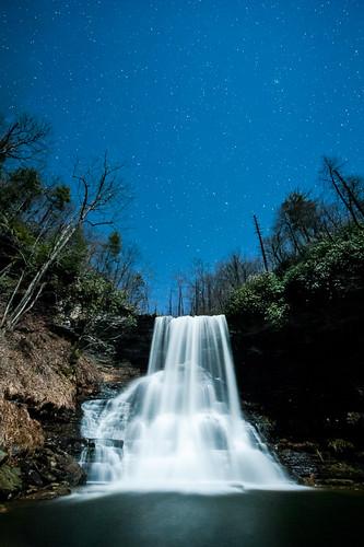 water night stars pembroke virginia waterfall unitedstates cascades
