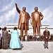 Mansudae Assembly Hall - Statues of Kim Il-sung & Kim Jong-il by eberlen