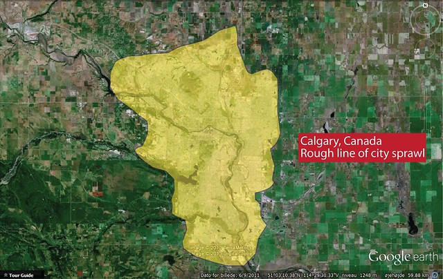 Urban Sprawl Comparison - Calgary