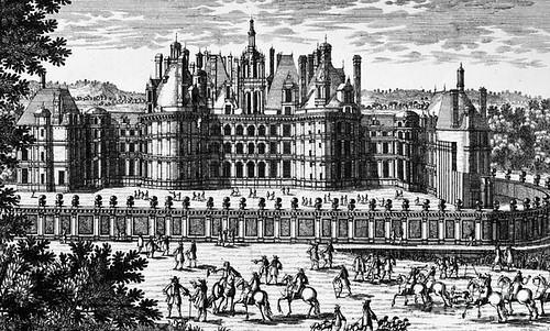 Dibujo del Castillo de Chambord (Valle del Loira, Francia)