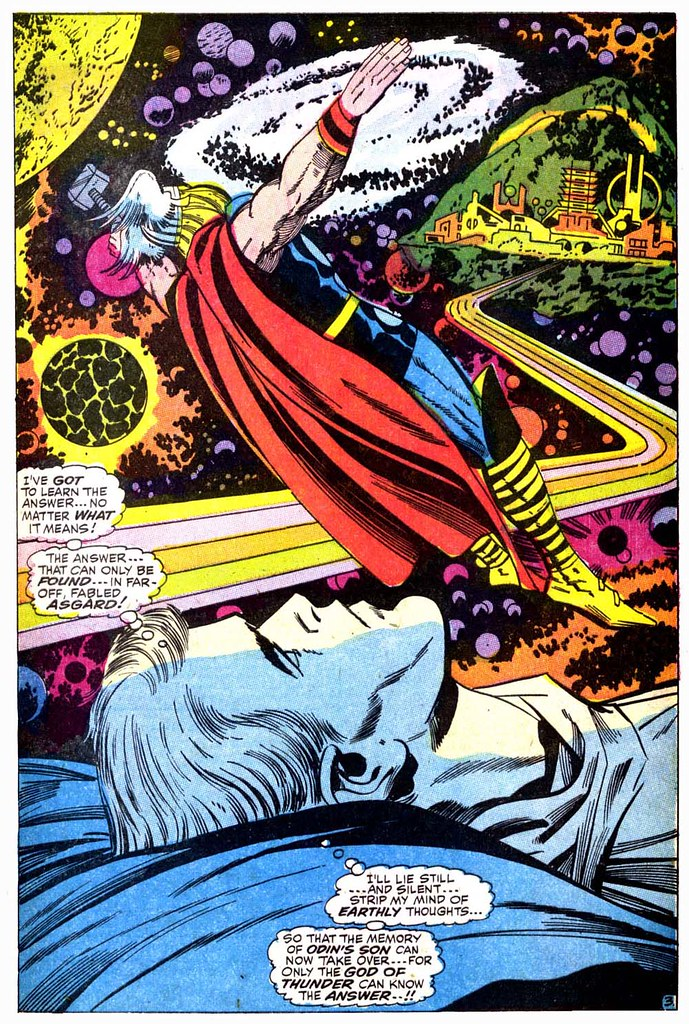Thor 159 Dr Don Blake dreaming Thor splash 1968 Kirby