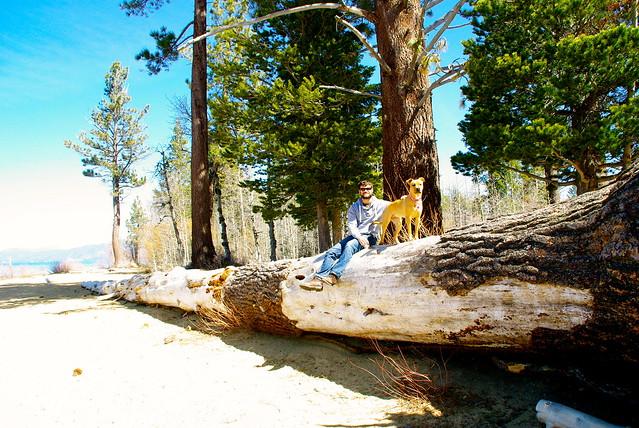 wilma and josh at lake tahoe