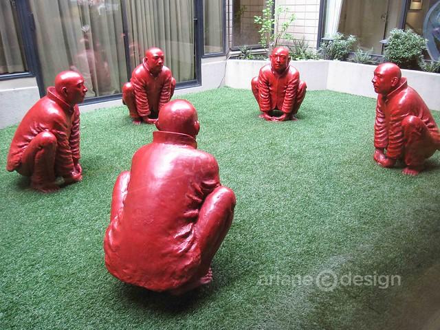 Brunch at forage/temporary sculpture exhibit