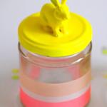 Neon bunny jar
