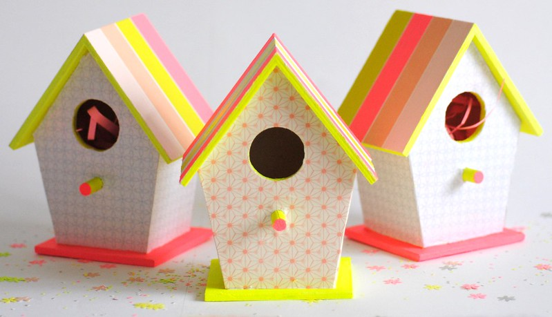 Pretty printed birdhouses