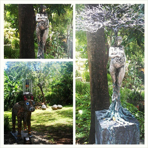 Beautufil garden art! sculpture and mosaic!