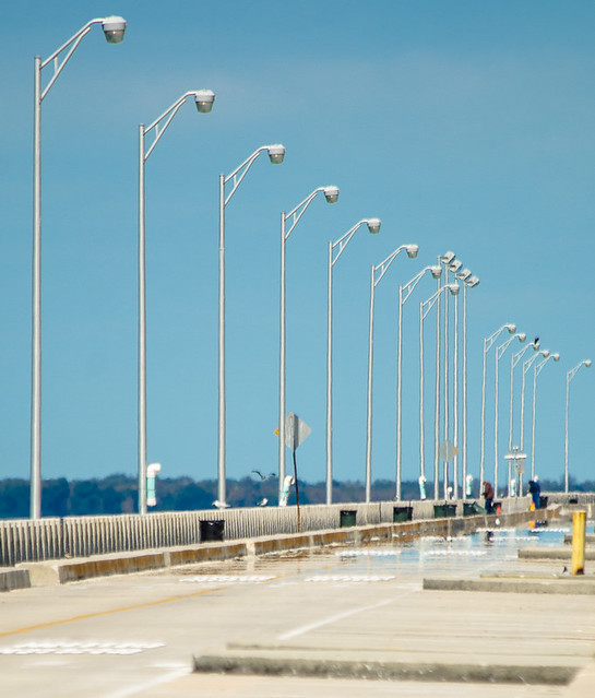 Lamp posts of the old sunshine skyway bridge for Skyway bridge fishing pier