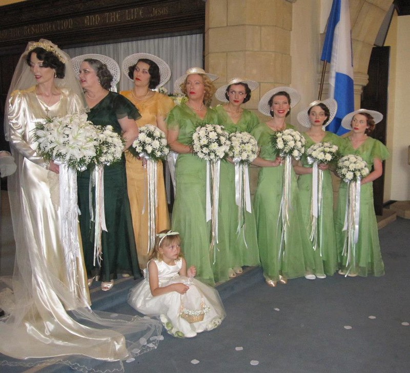 1930s fashion wedding as seen on @offbeatbride
