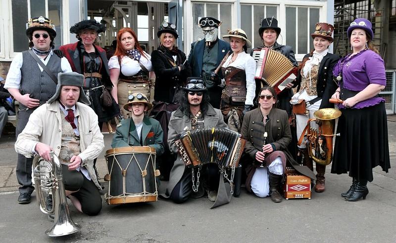 Steampunk Morris Dancers