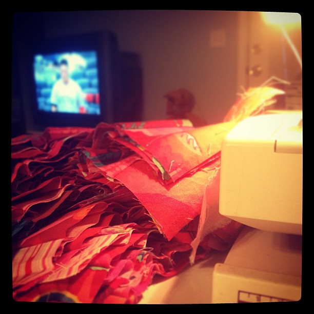 Reason I love baseball season #241: uninterrupted quilting time for me! #yay
