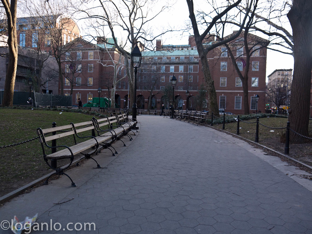 Washington Square Park NYC in early Spring 2013
