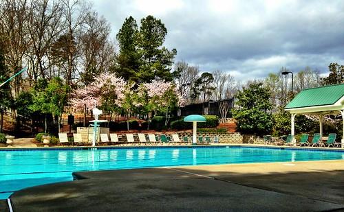 pool's open. Brr!