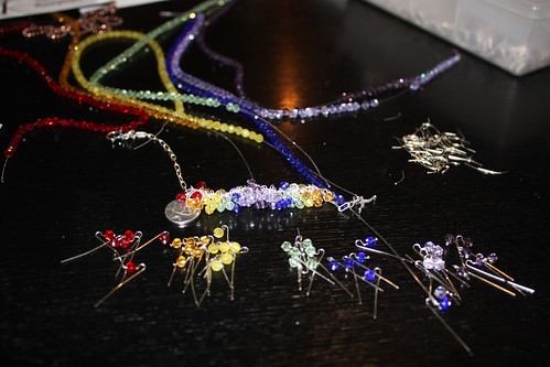 rainbow chalice bracelet WIP