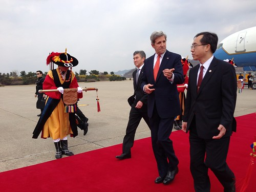 Secretary Kerry is Escorted by Moon Seoung-hyun by U.S. Department of State
