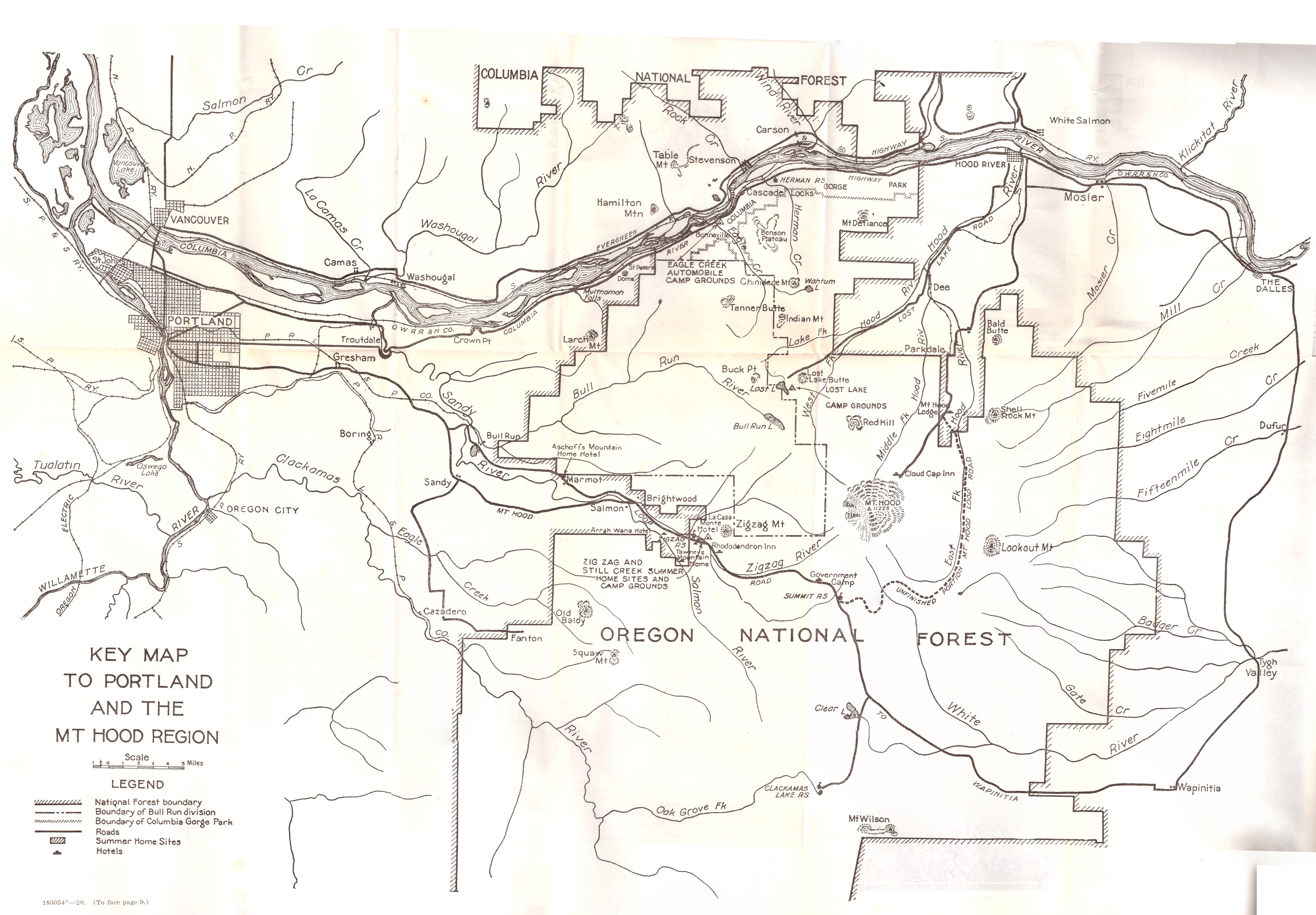 1920 Mt Hood Trails Highways Brochure With Maps Oregon Hikers