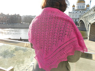 Snowdrop shawl by Stephanie Pearl-McPhee and Christ the Saviour cathedral