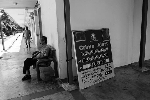 Crime Alert at Red Hill estate - the snap shot as taken by my new Ricoh GRD IV this morning. These pictures are freshly taken for this article!
