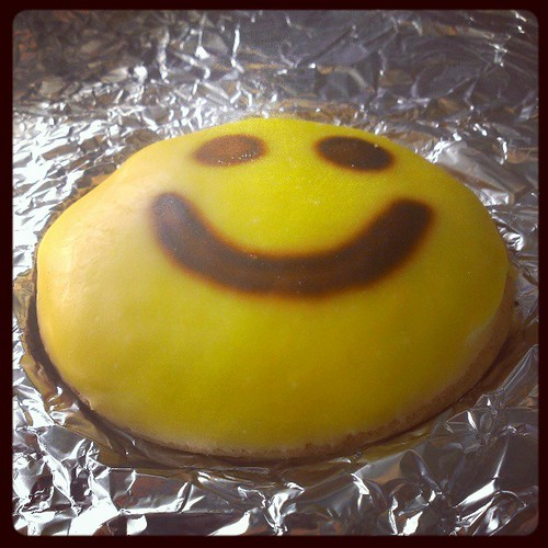 Smiley face cookie from Busken...