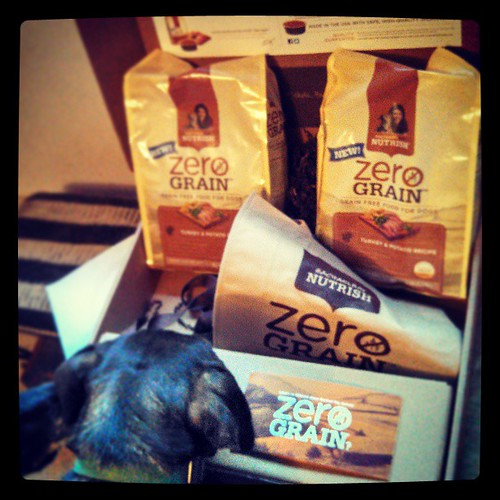 Big box of #RachaelRay #Nutrish #zerograin just arrived for review! #dogfood #dogstagram