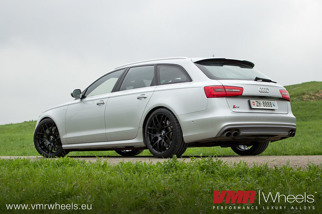 VMR Wheels V710 Custom Silk Gloss Black - Audi S6 | Flickr - Photo Sharing!