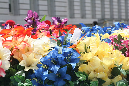 Colorful Silk Flowers