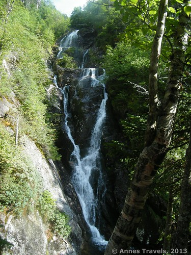 Another view of the waterfall in The Gorge, Ammonoosuc Ravine, White Mountain National Forest, New Hampshire