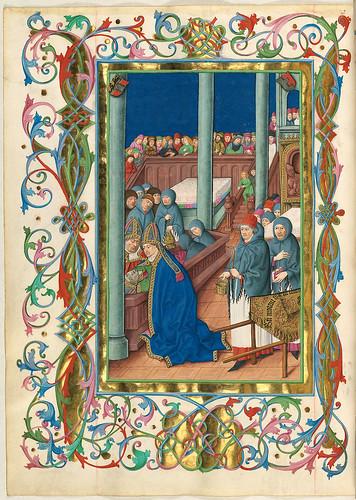 018- Entierro de San Virgil-Misal de Salzburgo-1499-Tomo 5-Biblioteca Estatal de Baviera (BSB)