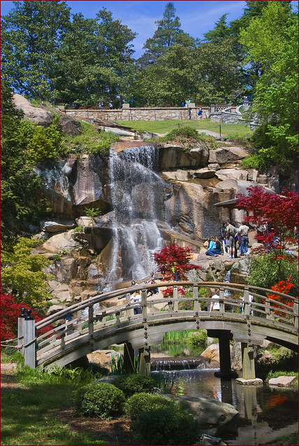 Waterfall Maymont Japanese Garden Richmond Va April
