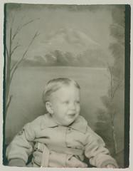 Photobooth baby in coat