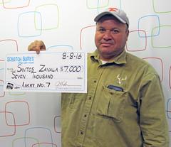 Santos Zavala - $7,000 Lucky No. 7