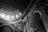 St Peter's Basilica, Vatican, Rome, Italy, BW_