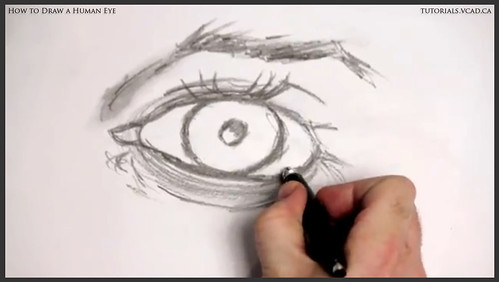 learn how to draw a human eye 014