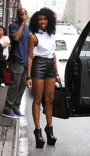 Brandy Leather Shorts Celebrity Style Women's Fashion