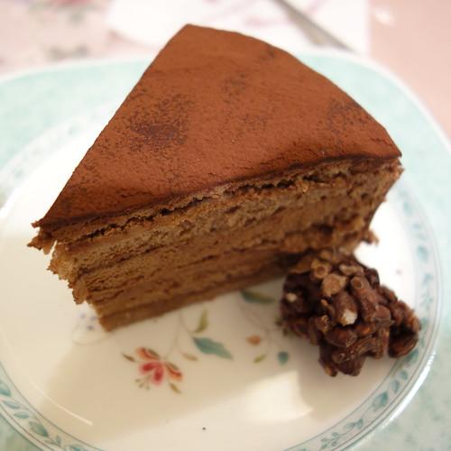今日のおやつ。チョコレートのケーキ。