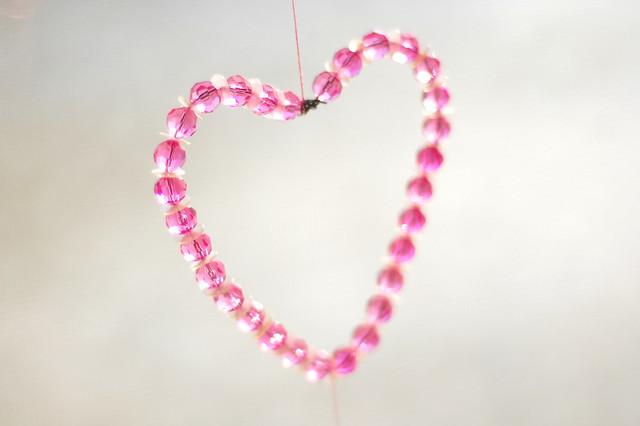 bead & sequin heart